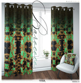 Baroque Gold Decorative Pattern PREMIUM Curtain. Available on 12 Fabrics. Heavy And Sheer. 100044A