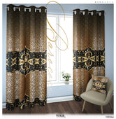 Baroque Animal Print PREMIUM Curtain Panel. Available on 12 Fabrics. Sheer & Heavy. 100046