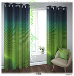 Evergreen Nazca Lines PREMIUM Curtain Panel. Available on 12 Fabrics. Heavy & Sheer. 100047F
