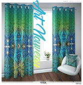 Decorative Swirls Art Nouveau PREMIUM Curtain Panel. Available on 12 Fabrics. Made to Order. 100145