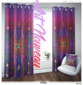 Magenta Art Nouveau PREMIUM Curtain Panel. Available on 12 Fabrics. Made to Order.100146