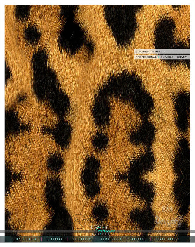 Leopard Print PREMIUM Curtain Panel. Available on 12 Fabrics. Heavy & Sheer. Made to Order. 100167
