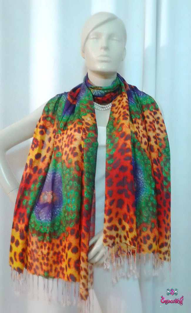 Devarshy Digital print Animal design Stole , Accessories - DEVARSHY, DEVARSHY  - 1