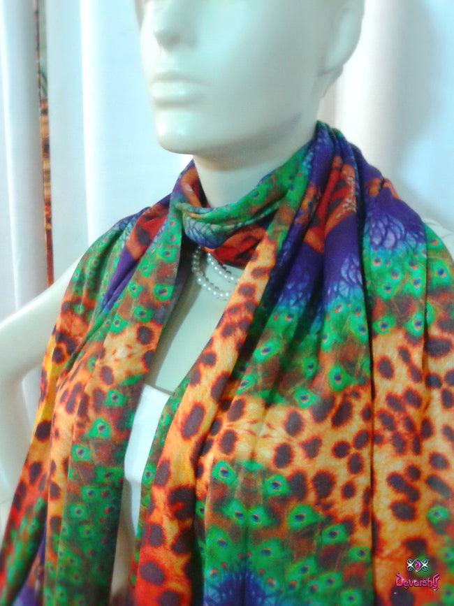 Devarshy Digital print Animal design Stole , Accessories - DEVARSHY, DEVARSHY  - 3