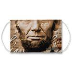 Abraham Lincoln Vintage Look Face Mask With Filter And Nose Wires - 11243
