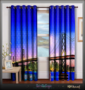 METROMODSCAPIA Vibrant City Bridge Devarshy Heavy Door Curtains Set - 1177