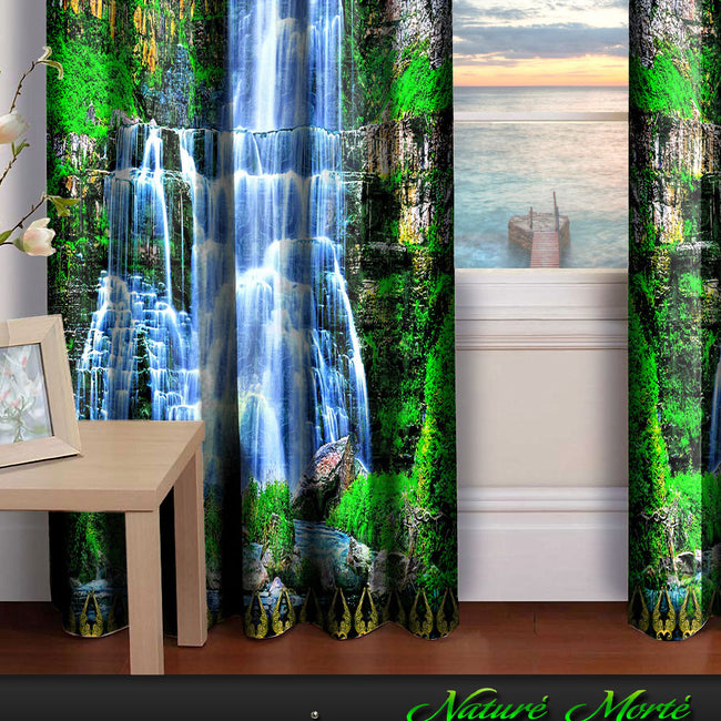 Devarshy Designer Home Furnishings Digital Print Waterfall Blackout Curtain Set -1070 , Home Decor - DEVARSHY, DEVARSHY  - 3