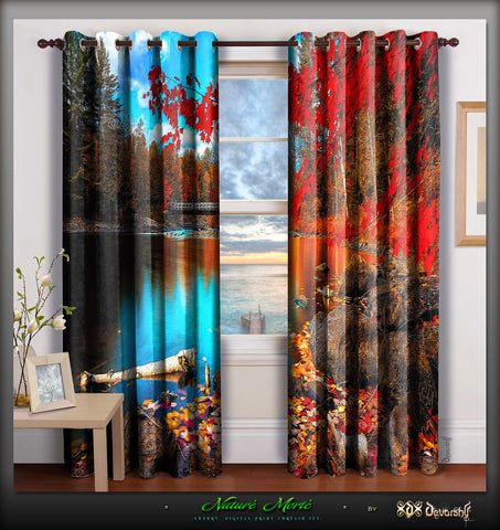 Devarshy Beautiful Nature Digital Print Designer Home Furnishings ...