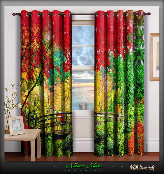 Devarshy Designer Digital Print Home Furnishings Beautiful Home Curtain Panels , Home Decor - DEVARSHY, DEVARSHY  - 1