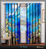 Devarshy Designer Digital Print Blue Underwater Home Decor Curtain Set , Home Decor - DEVARSHY, DEVARSHY  - 1