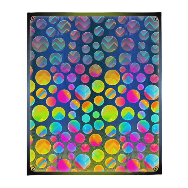 Where Polka Pops! Printed Throw Blanket, Soft Fleece Blanket, Devarshy Home, PF - 015