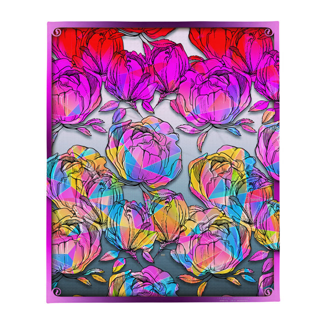 Where Roses Bleed to Oblivion... Printed Throw Blanket, Soft Fleece Blanket, Devarshy Home, PF - 016