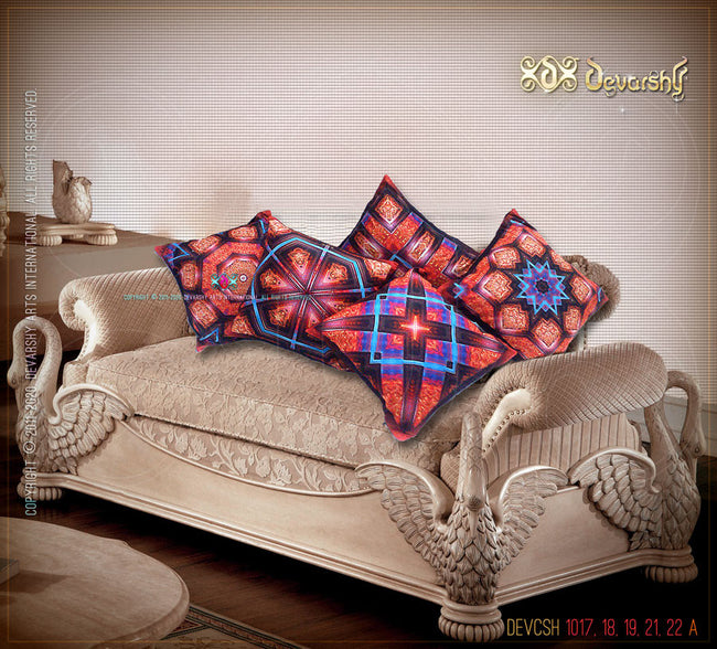 Devarshy Luxury Decorative Square Cushion Covers Set , Home Decor - DEVARSHY, DEVARSHY