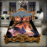 Devarshy Digital print Songs of the Angels Luxurious King size Bed-sheet Set , Home Decor - DEVARSHY, DEVARSHY  - 1