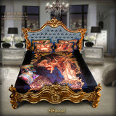 Devarshy Digital print Songs of the Angels Luxurious King size Designer Bedsheet Set