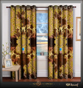 BAROCOCO Ornate Brown Devarshy Luxurious Home Premium Door Curtain - 1025C