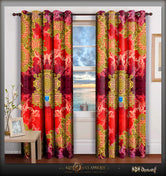 BAROCOCO Scarlet Ornate Devarshy Luxury Home Decor Door Curtain - 1025D