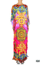 Devarshy Designer Pinkish Stylish Tibetan Design Long embellished printed Kaftan -1066A , Apparel - DEVARSHY, DEVARSHY  - 3