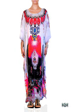 Devarshy Subtle Digital Print Stunning Decorative Long Embellished Designer Kaftan - 1099A , Apparel - DEVARSHY, DEVARSHY  - 1