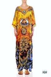 BAROCOCO Golden Articulated Devarshy Long Embellished Kaftan - 1101A