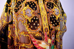 Devarshy Light Grey Digital Print Golden Adornment Long Embellished Designer Kaftan - 1104C , Apparel - DEVARSHY, DEVARSHY  - 5