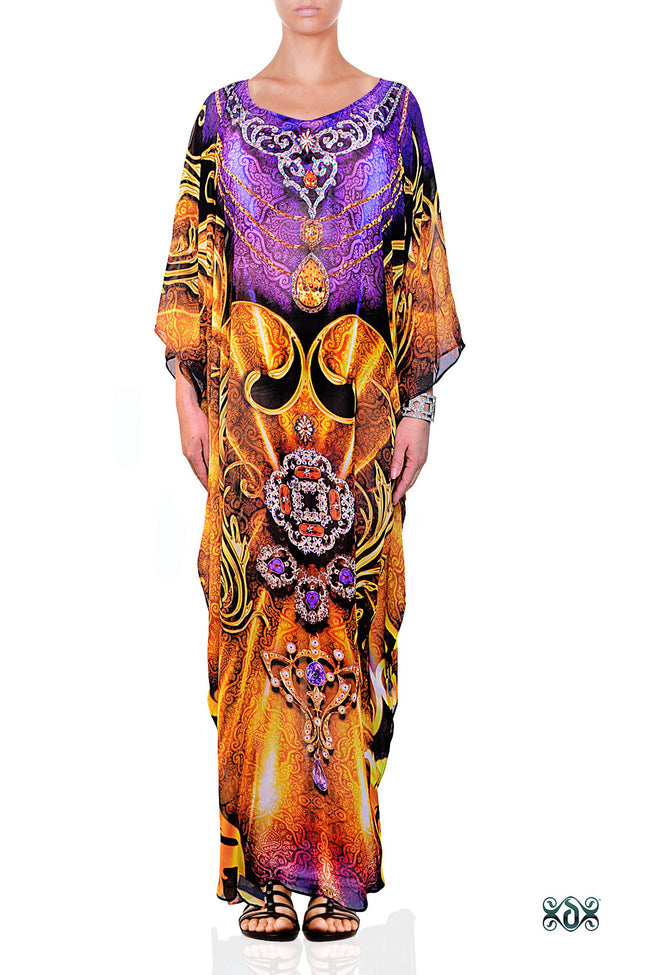 Digital print Kaftan Beachwear