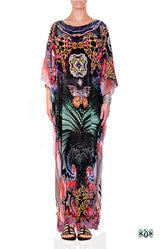 AERO-TERRANIUS Swirling Terrains Devarshy Long Embellished Kaftan - 1106C
