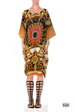 BAROCOCO Golden Ornamental Devarshy Short Georgette Kaftan - 1109C