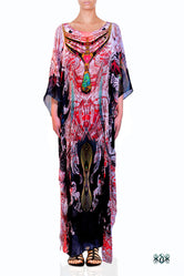 AERO-TERRANIUS Radiant Waves Devarshy Long Embellised Kaftan - 1114B