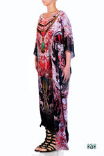 Devarshy Digital Print Artistic Long Embellished Designer Kaftan Dress - 1114 B , Apparel - DEVARSHY, DEVARSHY  - 2