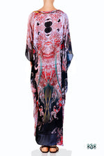 Devarshy Digital Print Artistic Long Embellished Designer Kaftan Dress - 1114 B , Apparel - DEVARSHY, DEVARSHY  - 3