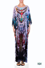 Decorative Devarshy Designer Elegant Long Embellished Kaftan Gown - 1114 C , Apparel - DEVARSHY, DEVARSHY  - 1