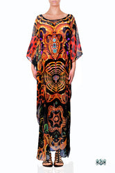 BAROCOCO Ornate Animal Print Devarshy Long Embellished Kaftan - 1117B