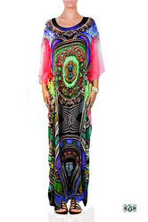BAROCOCO Colorful Ornate Devarshy Long Embellished Kaftan - 1125C