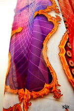 BAROCOCO Decorative Purple Devarshy Long Embellished Kaftan - 1128A