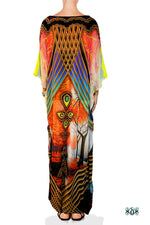 BAROCOCO Scenic Decorated Devarshy Embellished Long Kaftan - 1129A