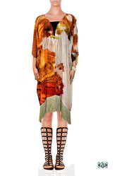 ART CLASSIQUE The Mona Lisa Print Devarshy Short Kimono Jacket - 1079A