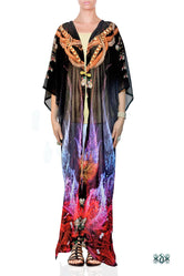 CRYSTALLIUS Dark Crystalline Devarshy Long Kimono Jacket - 1096A