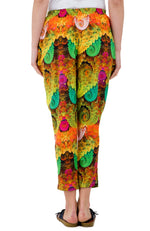 MICROCOSMOS Vibrant Cosmic Devarshy Pure Cotton Ladies Tapered Pant - 1054A
