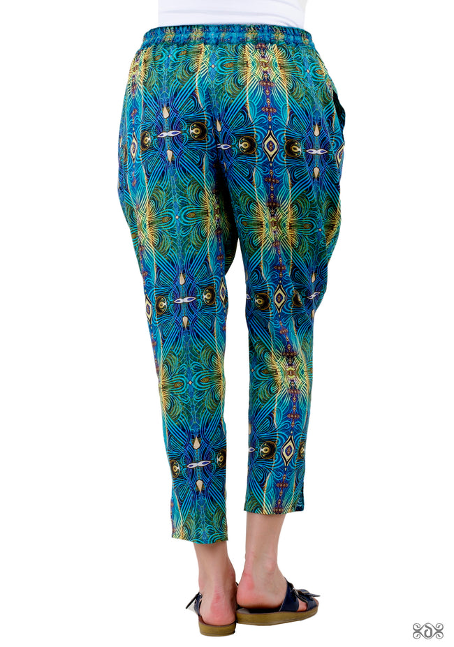 ART NOUVEAU Intricate Green Devarshy Pure Cotton Long Tapered Pant