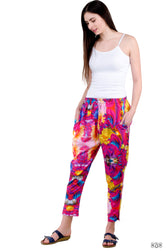 NATURE MORTE Pink Florals Pure Cotton Devarshy Long Tapered Pant