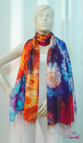 MICROCOSMOS Beautiful Vibrant Devarshy Printed Long Stole - 1076A