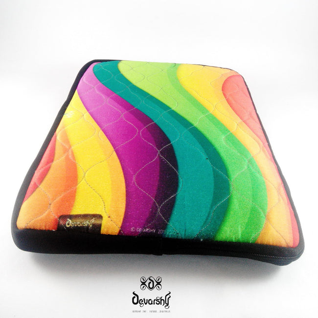 "Devarshy Digital Print Colorful Waves 16"" Laptop/ Mac book Pro Cover Sleeve Pouch , Accessories - DEVARSHY, DEVARSHY  - 3"