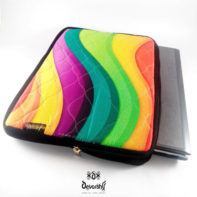 "Devarshy Digital Print Colorful Waves 16"" Laptop/ Mac book Pro Cover Sleeve Pouch , Accessories - DEVARSHY, DEVARSHY  - 1"