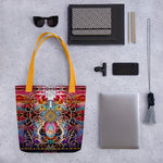 Royal Baroque Printed Tote Bag, Ladies Handbag, Canvas Tote Bag, Devarshy Bag, PF - 1053A