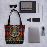 Animal Print Ladies HandBag, Printed Canvas Tote Bag, Devarshy Bag, PF - 1108A