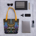 Bejeweled Animal Print Handbag, Printed Canvas Tote Bag, Devarshy Bag, PF - 1108B