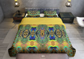 Royal Peacock Printed Duvet Cover, Twin, Queen, King Size Bedding, Luxury Bed Linen, Devarshy Home