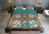 Baroque Printed Duvet Cover, Luxury Bed Linen, Twin, Queen, King Size Bedding, Devarshy Home