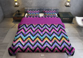 Colourful Printed Duvet Cover, Twin, Queen, King Size Bedding, Luxury Bed Linen, Devarshy Home